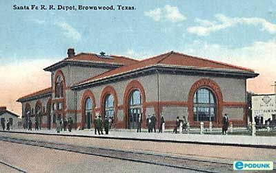 Brownwood postcard post card - Depot, Brownwood, TX
