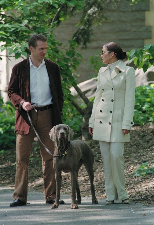 In the 2002 romantic comedy, Maid in Manhattan, a single mom and hotel staffer played by Jennifer Lopez finds true love in a dog-loving politician, played