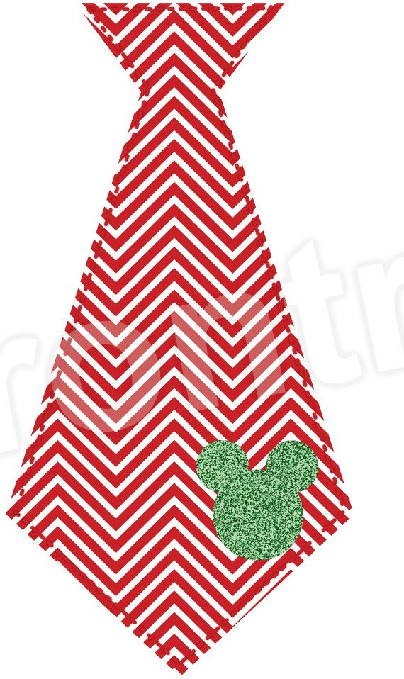 Chevron Mickey Inspired Tie Iron On  Christmas by TheIronTractor, $5.00