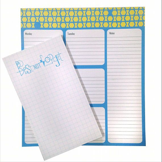 Best not Forget  Set of 2 Notepads by SchwarzieTM on Etsy, $20.00