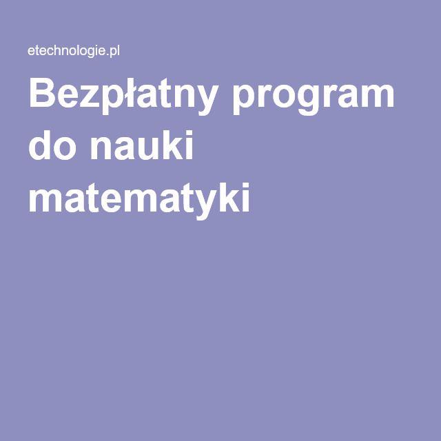 Bezpłatny program do nauki matematyki