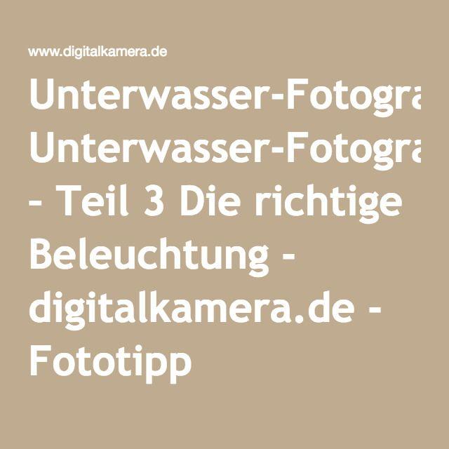 Unterwasser-Fotografie – Teil 3 Die richtige Beleuchtung - digitalkamera.de - Fototipp