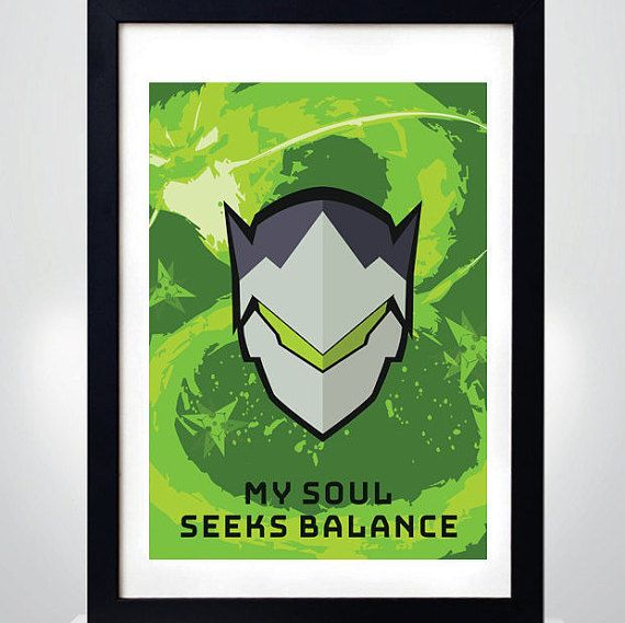 GENJI OVERWATCH Wall Art Print Game Poster by MixPosters on Etsy