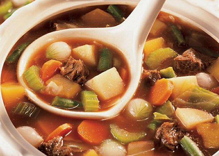 Σούπα με μοσχαράκι και λαχανικά