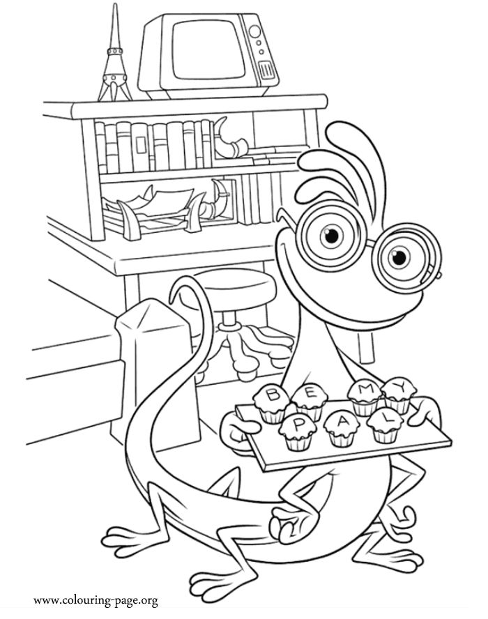 125 best Disney Monsters inc and Monsters University coloring
