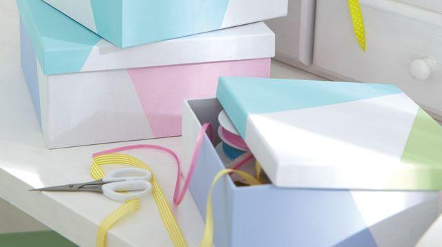 Relooking boîte à chaussures - Côté Maison
