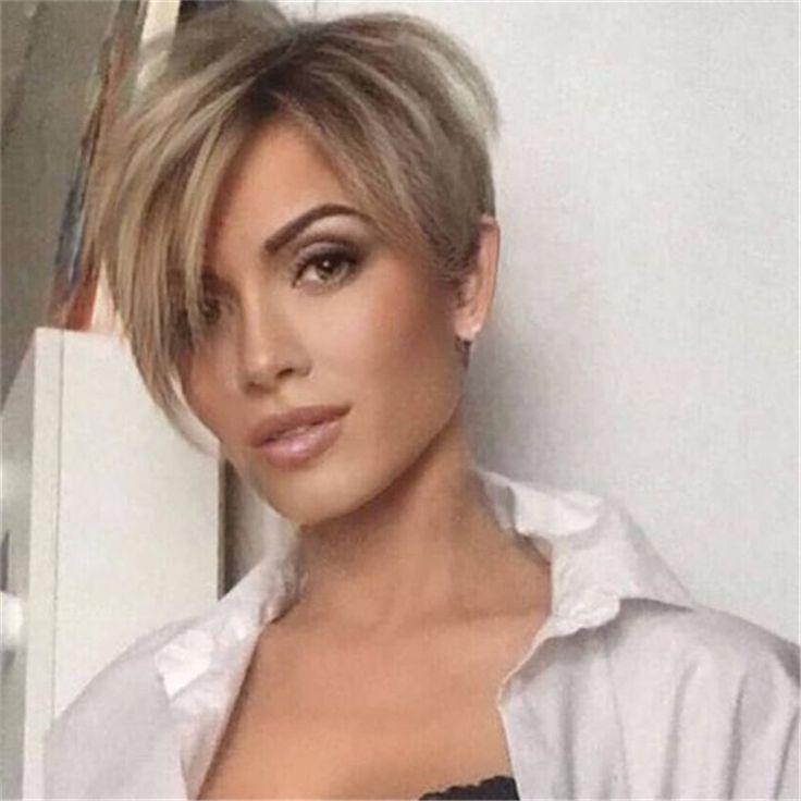 Coole Platinum Pixie Frisur für dünne Haare Ideen