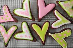 Chocolate Sugar Cookies with meringue royal icing