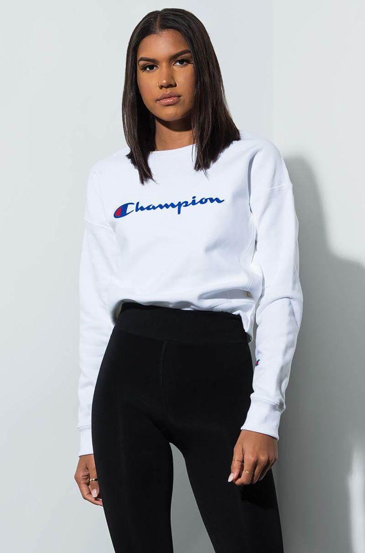 Champion Reverse Weave Crew Sweatshirt With Chainstitch Champion Script Logo In Dark Berry Purple O Champion Clothing Zumiez Outfits Clothes [ 1112 x 736 Pixel ]