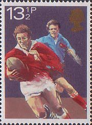 Sport 13.5p Stamp (1980) Rugby
