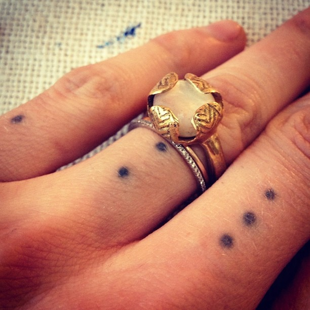 62 best images about dots tattoos on pinterest for 2 dot tattoo meaning