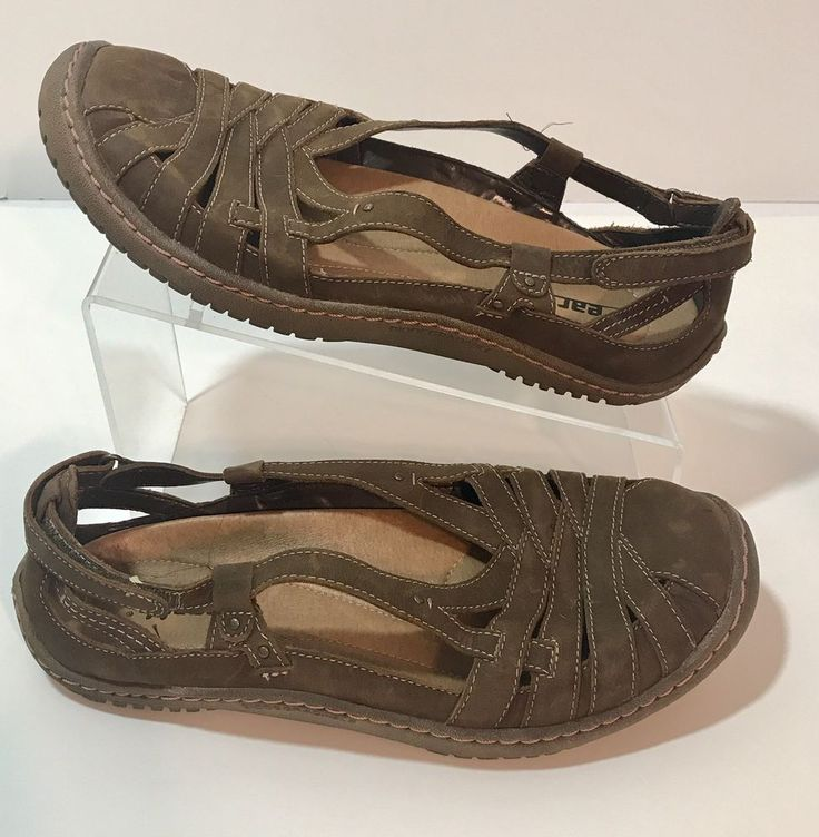 Earth Kalso Sandals Shoes Leather Brown Size 9.5B EU 42.5 Instinct AQ S11  Womens
