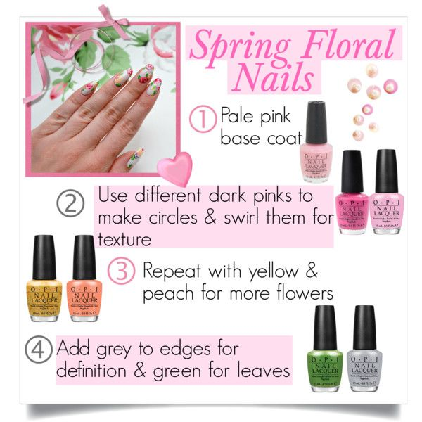 spring nails by divacrafts on Polyvore featuring beauty, OPI and Original