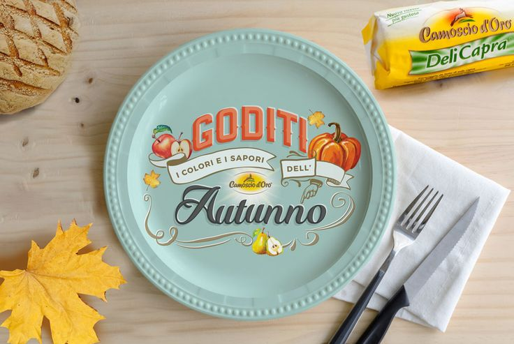Behance :: Editing Autumn lettering   Behance :: Editing Autumn lettering  This lettering piece was done for my client Camoscio d'Oro (delicious cheese). Once the lettering was done and approved I'd tried it in different settings and environments, always related with food topic. In this example dish set in autumn enviroment illuminted with morning nautural light.  #mockupfood, #mockupapron, #fall, #autumn, #lettering, #pumpkin, #tableware, #dishmokup, #mockup, #fall,, #autumn