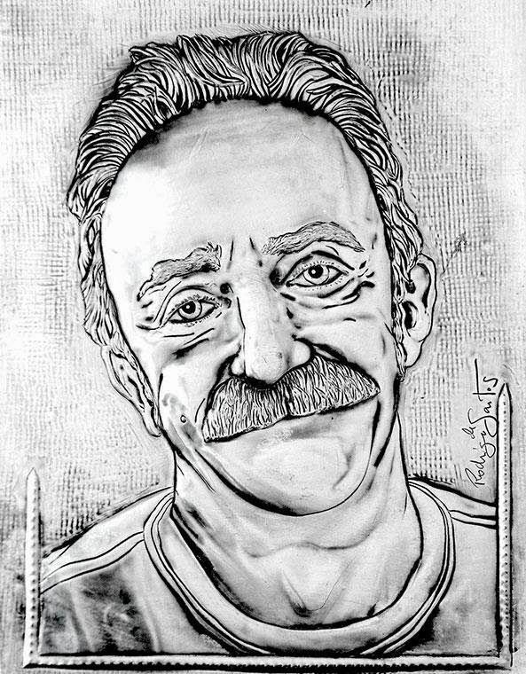 ArteyMetal: Retrato de Santi Rodríguez 6