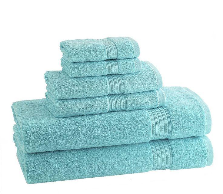 CLASSIC EGYPTIAN TOWELS | Set of 6 | Caribean Blue
