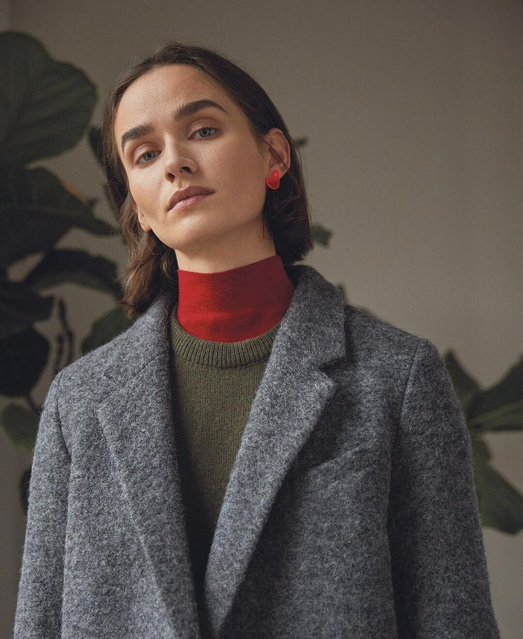 House of Dagmar classic the Anissa wool coat is back in stock, this year lighter than ever, still warm as always. Available online and in store. .  .  .  #houseofdagmar #dagmar