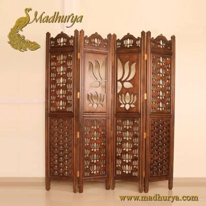 Wall Partition Plush Interiors, Beautiful Wall Partition In Attractive  Lotus Theme Design #antiquefurniture #