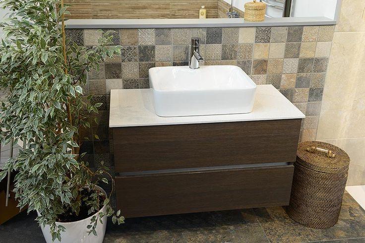 LARGO umyvadlová skříňka pro Rockstone desku 89x50x45cm, borovice rustik, SAPHO E-shop