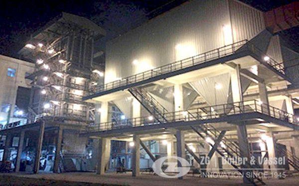 40 ton circulating fluidized bed boiler installation site
