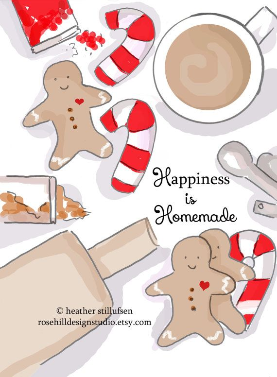 Happiness is Homemade  Christmas Cards  by RoseHillDesignStudio