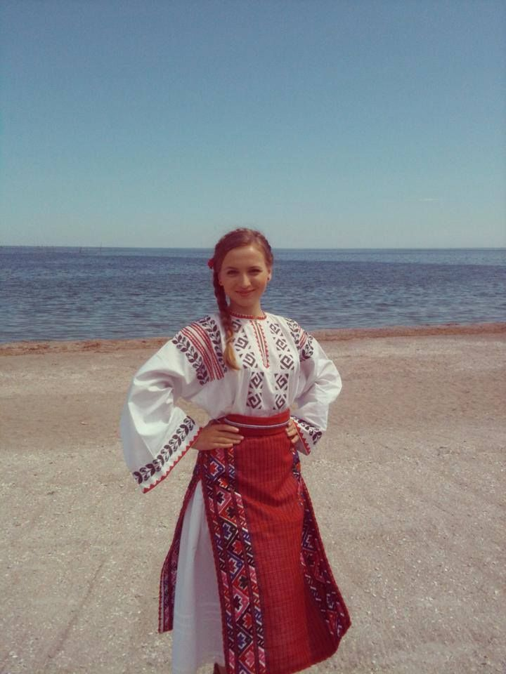 Traditional Romanian costume from South of Dobrogea, Constanta