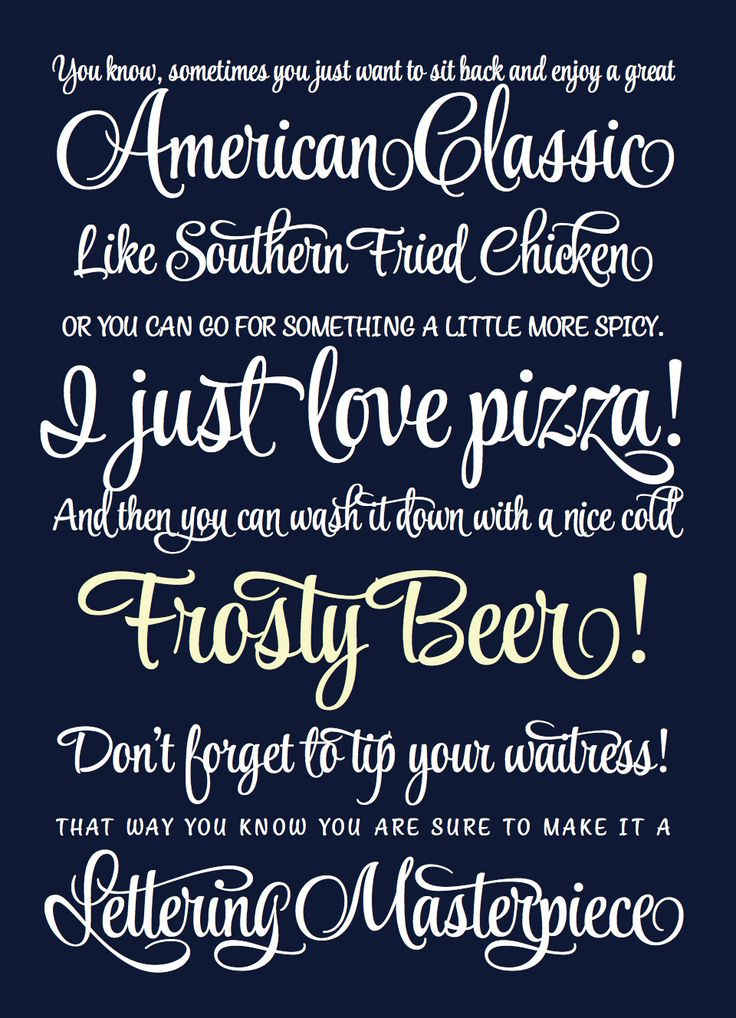 Beautiful Script Font Style Script Another Sample Of