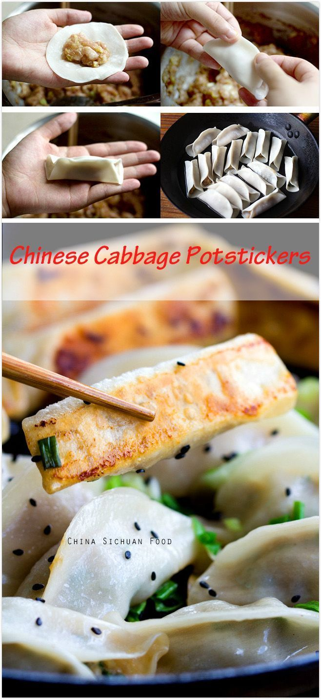 Chinese Cabbage Potstickers | China Sichuan Food