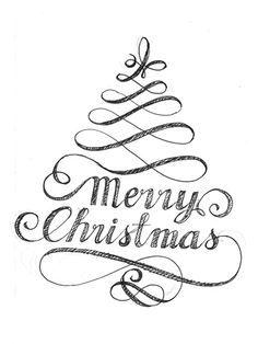 Afbeeldingsresultaat voor calligraphy christmas cards ideas