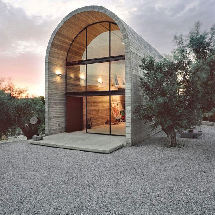 Concrete Dome Homes: Art Studio In A Concrete Dome - Athens