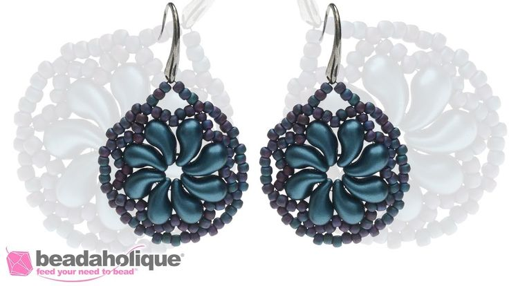 How to Make the Lacy Floral Swirl Earrings featuring Czech Glass ZoliDuo...