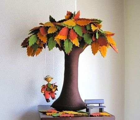 Copaci handmade din pasla