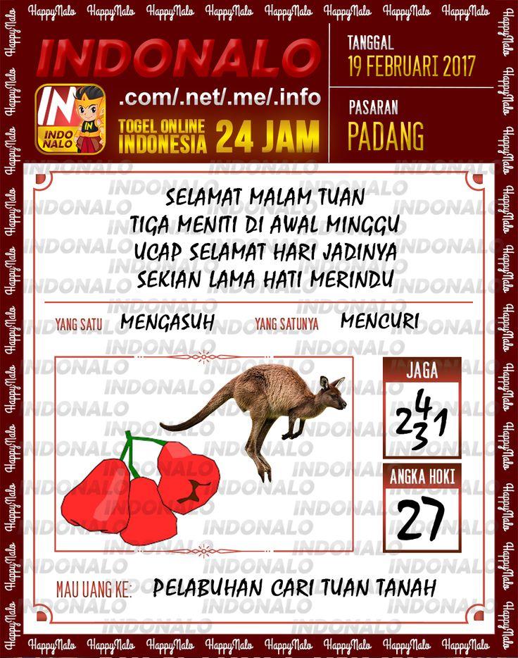 Taysen Hoki 3D Togel Wap Online Live Draw 4D Indonalo Padang 19 Februari 2017