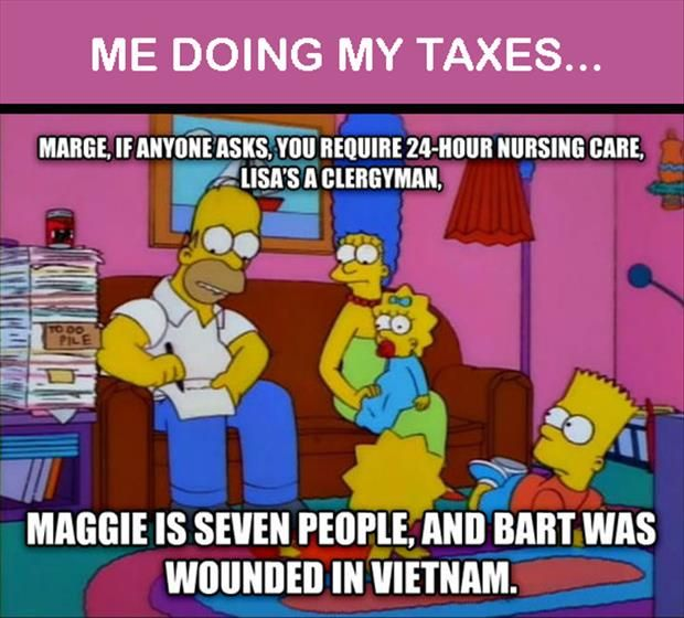 Homer does his taxes lol