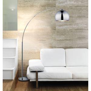 DESI lampadaire ARC Chrome hauteur 166cm - Achat / Vente DESI Lampadaire ARC CHROME pied métal chromé – réflecteur acrylique - Cdiscount