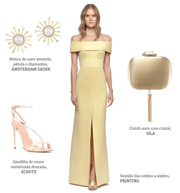 a9a4e902f Look madrinha: vestidos amarelos + acessórios - Constance Zahn |  Bridesmaids | Vestidos, Vestido amarelo, Vestido madrinha amarelo