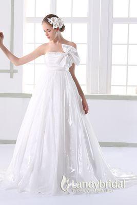 白のエンパイア ウェディングドレス・花嫁衣装のまとめ一覧♡