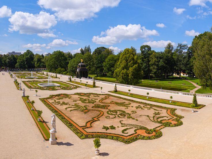 Gardens of the palace Branicki in Bialystok, Poland.