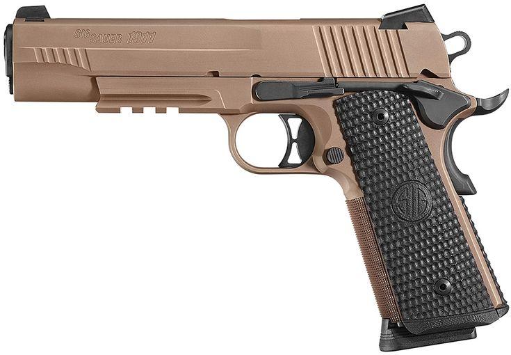"""Sig 1911 Emperor Scorpion Pistol 1911R45ESCPN, 45 ACP, 5"""",G10 Magwell Grips, Flat Dark Earth Finish, 8 Rd"""