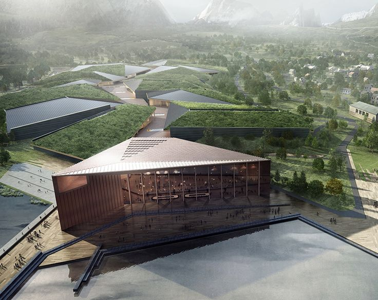 DESIGNBOOM: the kolos data center in norway mimics a glacier's movement https://www.davincilifestyle.com/designboom-the-kolos-data-center-in-norway-mimics-a-glaciers-movement/     global architecture and engineering firm HDR has proposed a design for the world's largest data center to be built in ballangen, norway — 225 kilometers (140 miles) north of the arctic circle. in developing the 'kolos data center', the architects took cues from its setting, a fjord surro