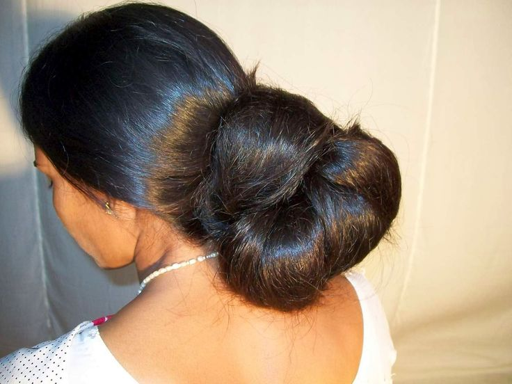 indian aunties hair bun