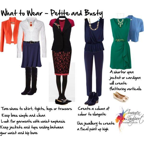 kledingregels voor klein postuur met grote boezem