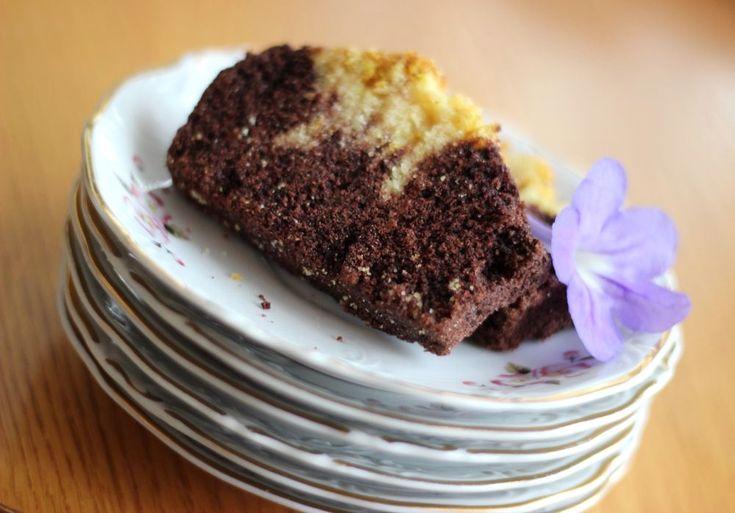 dwukolorowe wegańskie ciasto bezglutenowe