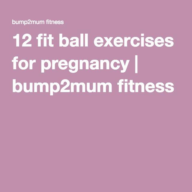 Balance Ball Exercises For Pregnancy: 40 Best Symphysis Pubis Dysfunction Images On Pinterest