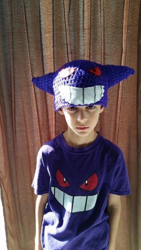 Pokemon Gengar crochet hat for my son