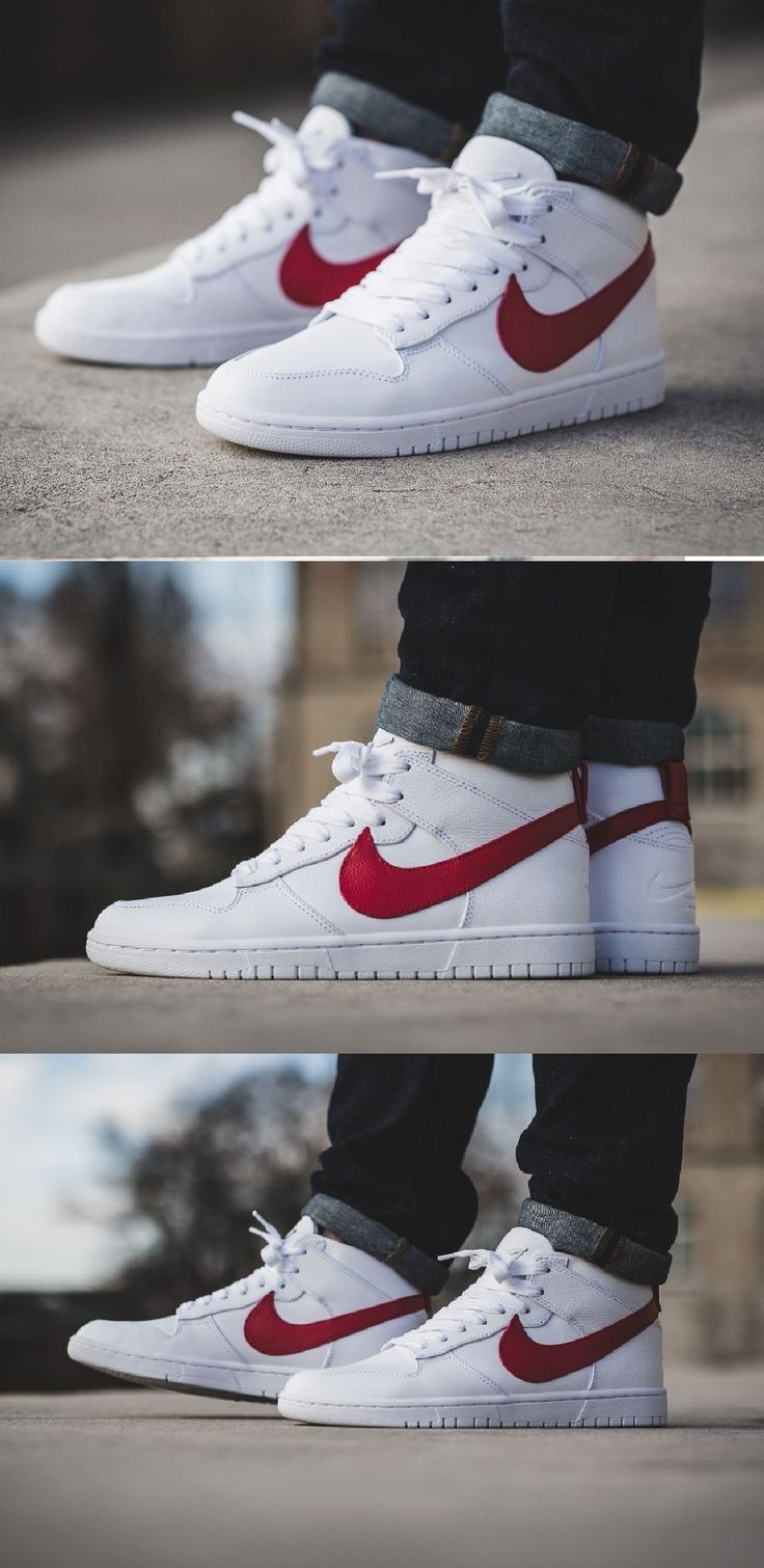 #Nike #Dunk #Lux #Chukka #Mid '#White Distance #Red'