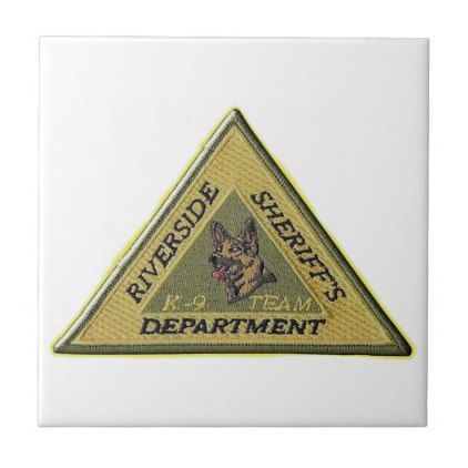 Riverside County Sheriff K-9 Tile - law gifts lawyer business diy cyo personalize