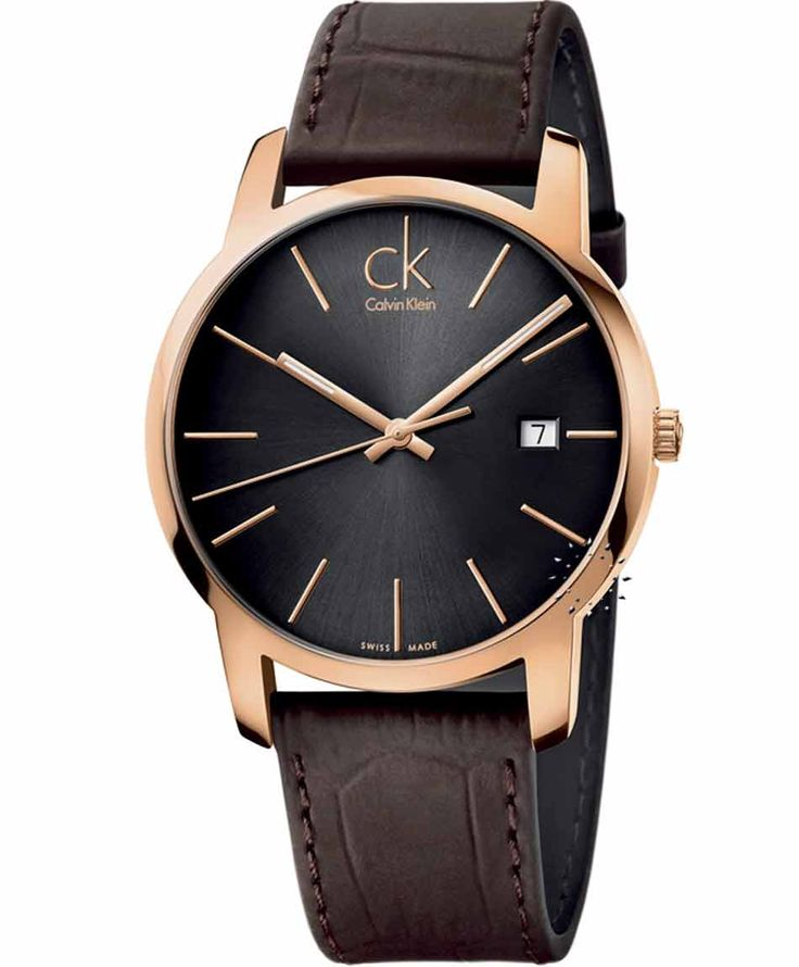 CALVIN KLEIN City Brown Leather Strap Τιμή: 246€ http://www.oroloi.gr/product_info.php?products_id=36126