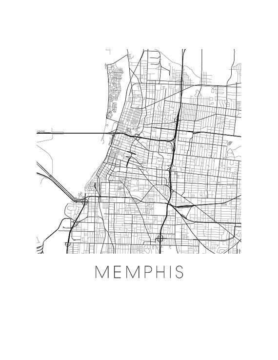 Memphis Map Print by iLikeMaps on Etsy