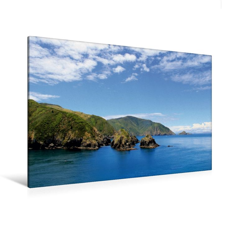 Queen Charlotte Sound (Premium Foto-Leinwand 45x30 cm, 50x75 cm, 90x60 cm, 120x80 cm)